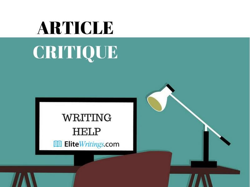 Article Critique Writing Help