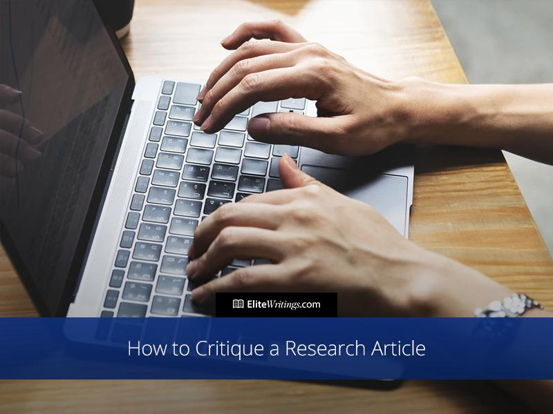 How to Critique a Research Article