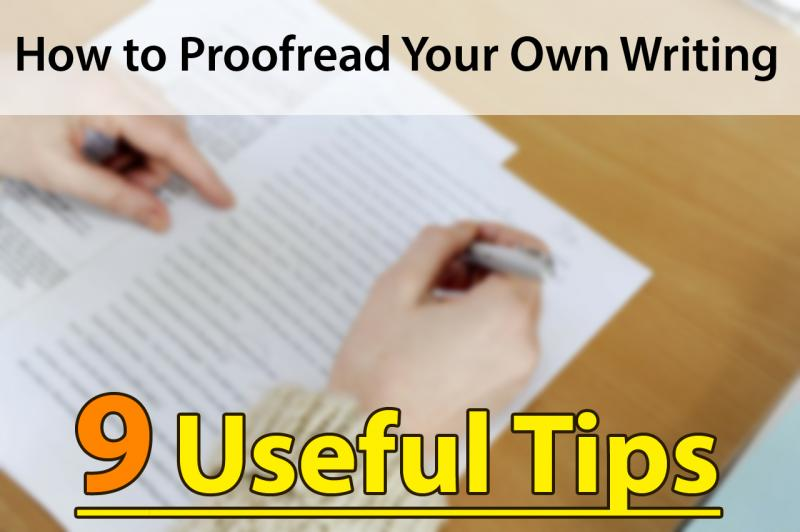How to Proofread Your Own Writing